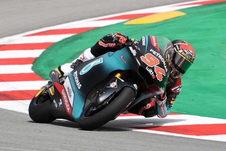 Jonas Folger ha sido uno de los pilotos de Moto2 presentes en el test de Barcelona.