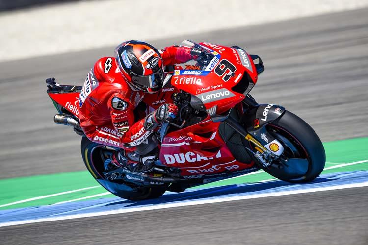 Danilo Petrucci ha conquistado dos podios y una victoria en sus primeras ocho carreras con el equipo oficial de Ducati.