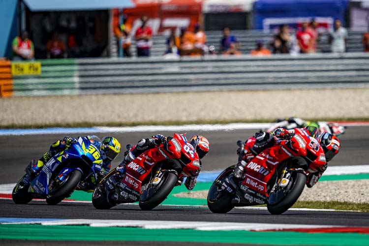 Ducati aterriza en Alemania en una situación comprometida. 'Dovi' no puede frenar a Marc Márquez.