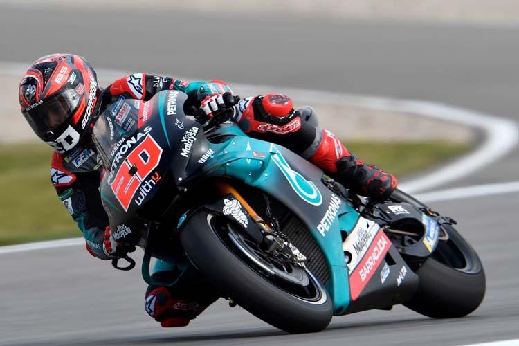 Fabio Quartararo ha marcado el mejor tiempo en el FP1 del GP de Alemania de MotoGP.