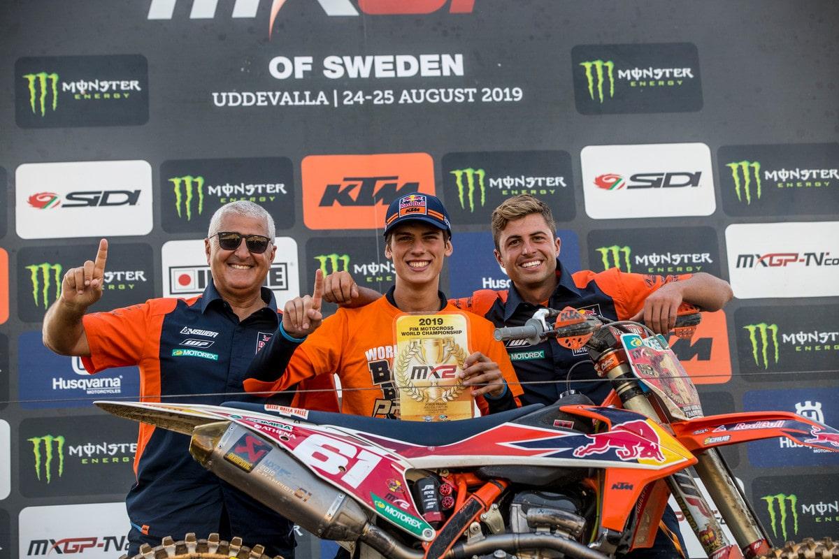 Jorge Prado revalida su título de campeón del mundo de motocross MX2