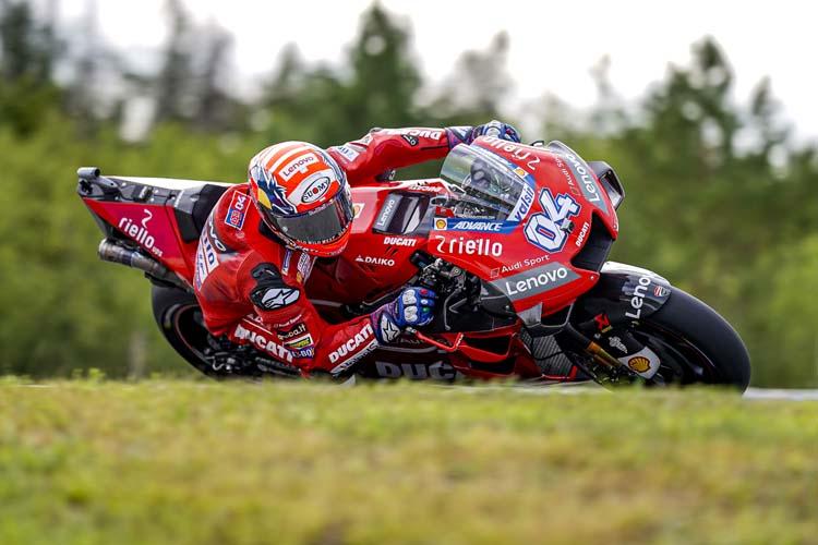 Andrea Dovizioso no ha conseguido plantar cara a Marc Márquez y se ha tenido que conformar con la segunda posición.