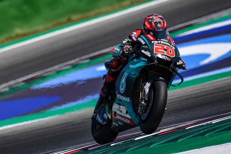 Fabio Quartararo ha sido el más rápido en tres de las cuatro sesiones en las que se ha dividido el test.
