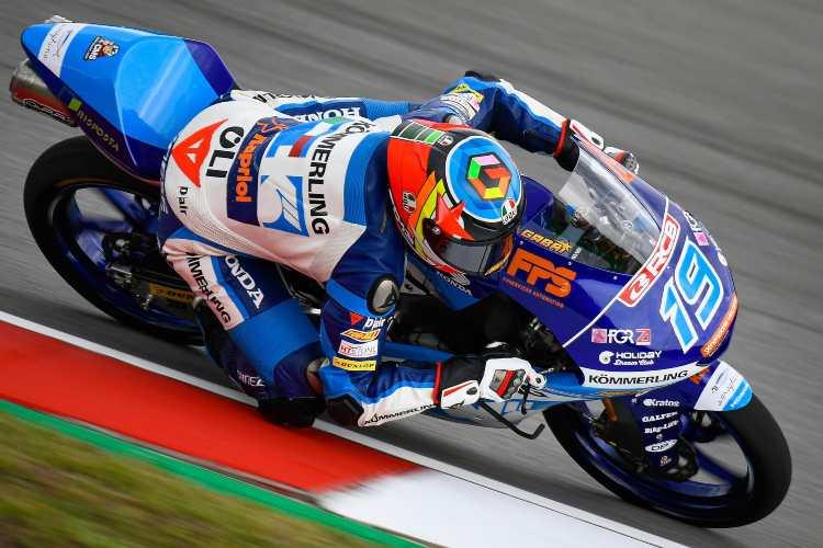 Gabriel Rodrigo manda en los primeros entrenamientos de Moto3 en Brno