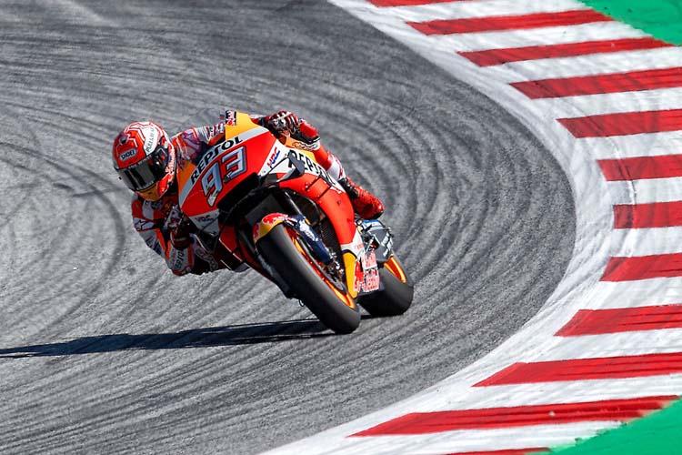 Marc Márquez ha terminado la primera jornada del GP de Austria como el piloto más rápido y regular.