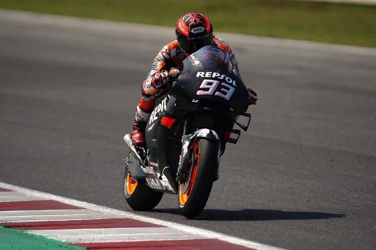 El desempeño de Marc Márquez en el test de Misano ha pasado un tanto desapercibido por el buen hacer de Yamaha.