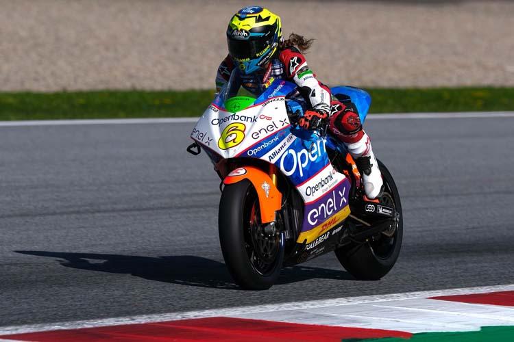 María Herrera ha superado sus problemas de adaptación a la Energica Corsa y ha terminado décima en la E-Pole de Austria.