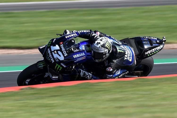 Maverick Viñales ha cerrado el triplete español en el podio de Silverstone tras firmar una sólida carrera.