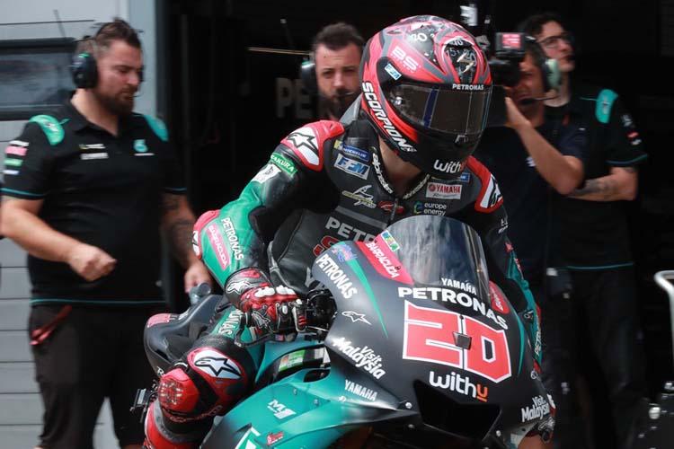 Fabio Quartararo ha sido el piloto más fuerte en los libres del viernes del GP de la República Checa.