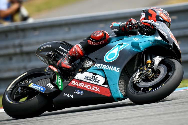 Fabio Quartararo ha marcado el tiempo de referencia en el test post-GP que ha completado MotoGP en la República Checa.