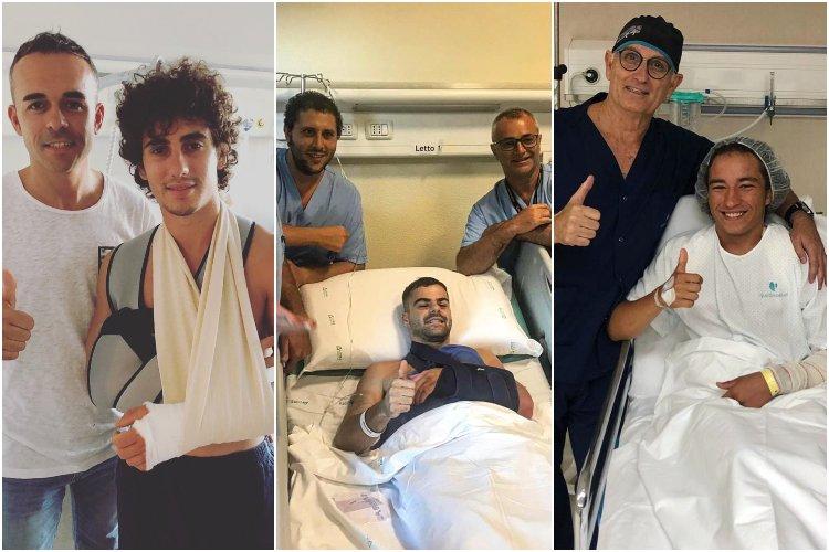 Niccoló Antonelli, Romano Fenati y Can Oncü han tenido que pasar por el quirófano