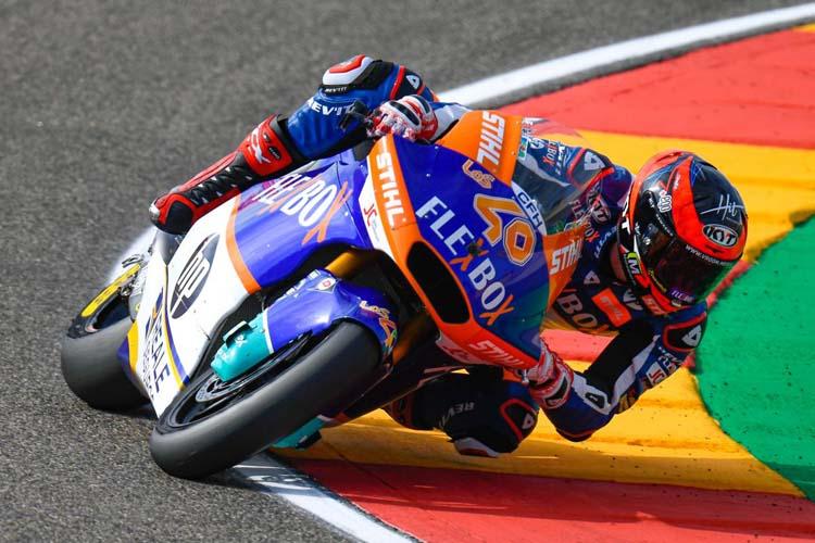 Augusto Fernández ha emulado a Marc Márquez y ha sido el más rápido en Moto2 con el crono del FP1. - © MotoGP