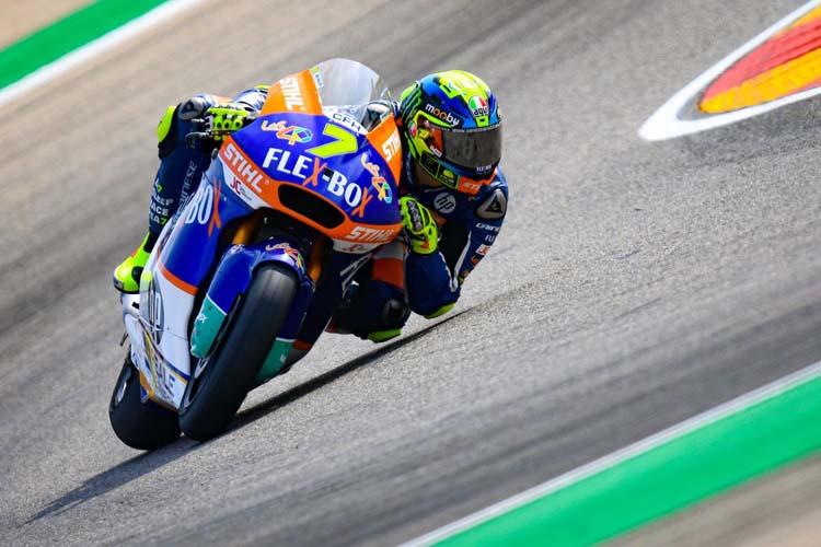 Lorenzo Baldassarri ha sido otro de los nombres propios de la jornada en Moto2. - © MotoGP