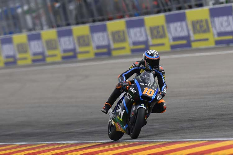 Luca Marini ha sido segundo en los primeros libres y ha dominado la tabla de tiempos en los segundos. - © MotoGP