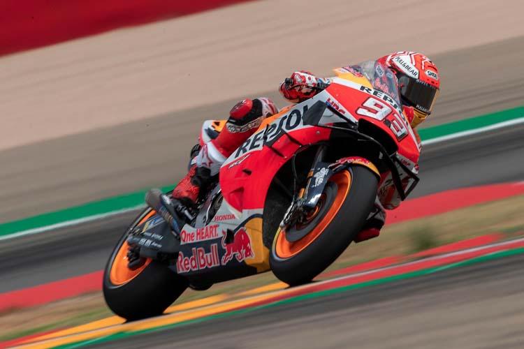 Marc Márquez no falla en MotorLand y se anota la pole del GP de Aragón