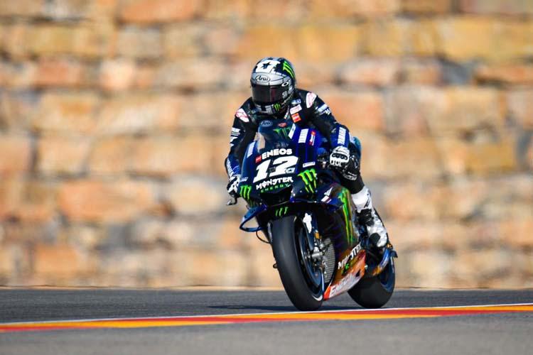 Maverick Viñales ha terminado al frente de los segundos libres del GP de Aragón. - © MotoGP