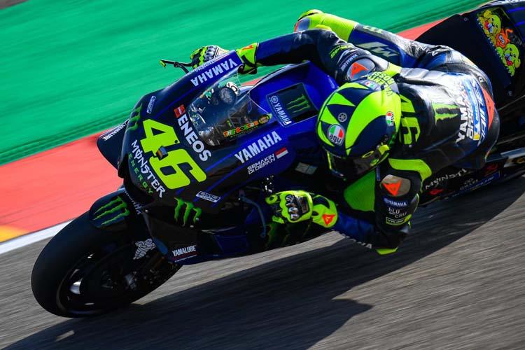 Valentino Rossi ha terminado en segunda posición en los segundos libres de MotorLand. - © MotoGP