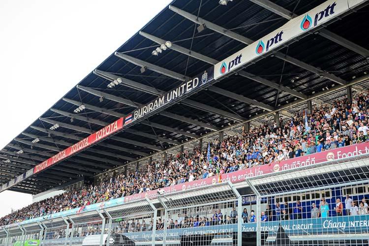 El GP de Tailandia es una de la citas con un mayor volumen de público en sus gradas.