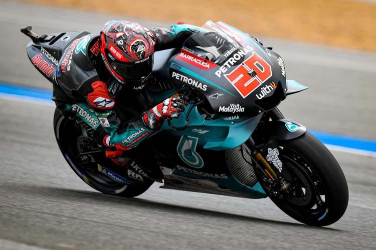 Fabio Quartararo ha cerrado la primera jornada del GP de Tailandia como el piloto más rápido.