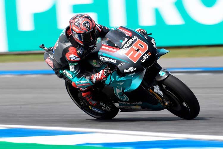 Fabio Quartararo ha logrado su cuarta pole de la temporada tras imponerse en la Q2 del GP de Tailandia.