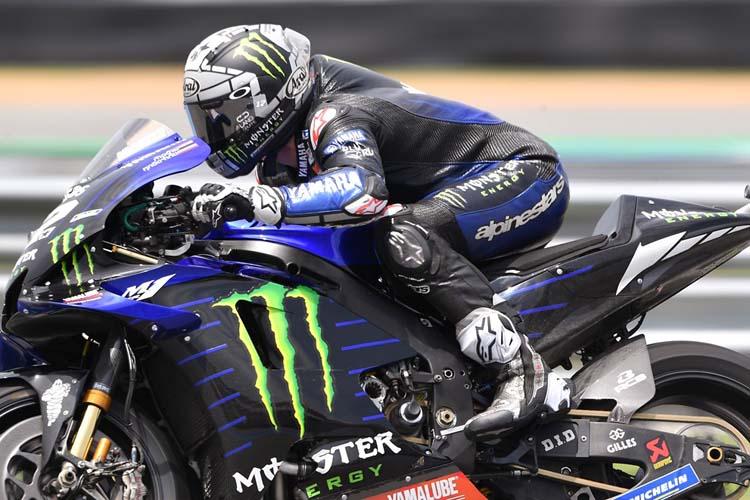 Maverick Viñales ha cerrado el podio del GP de Tailandia, aunque no ha estado en ritmo de los dos primeros.