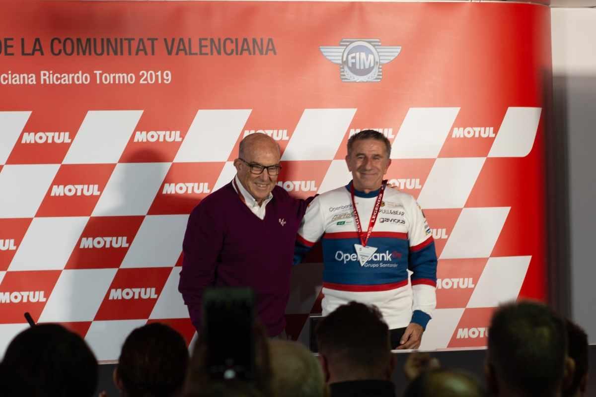 Aspar, nombrado leyenda de MotoGP en Valencia
