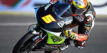 Jaume Masía lidera los primeros entrenamientos de Moto3 en Valencia