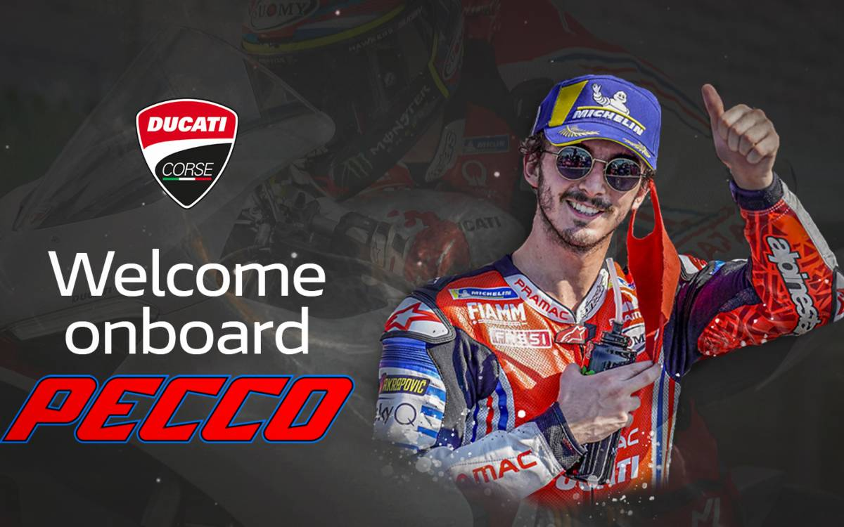Francesco Bagnaia acompañará a Jack Miller en el Ducati Team la próxima temporada