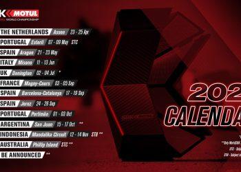 Calendario del Mundial de SBK 2021