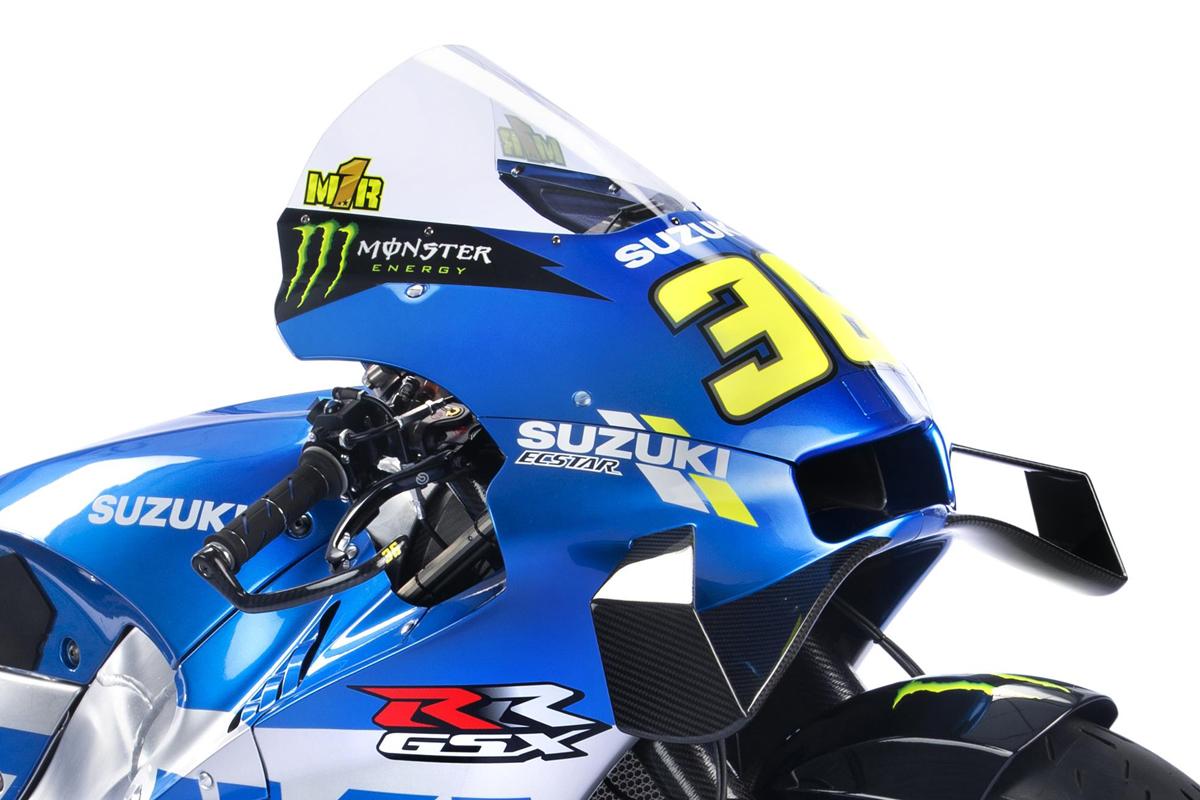 Joan Mir mantiene el dorsal #36 en su Suzuki GSX-RR a pesar de ser el campeón de MotoGP.
